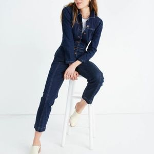 NEW Madewell Puff Sleeve Denim Jumpsuit Sz 10!